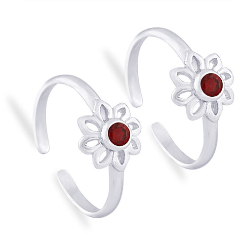 Taraash 925 Sterling Silver Floral Toe Ring For women LR0919S