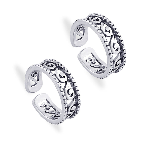 Taraash 925 Sterling Silver Antique Toe Ring For women LR0958A