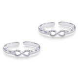 Taraash Sterling Silver Appealing Infinity Toe Ring For Women LR1056S