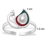 Taraash 925 sterling silver peacock style finger ring for women LR1113S