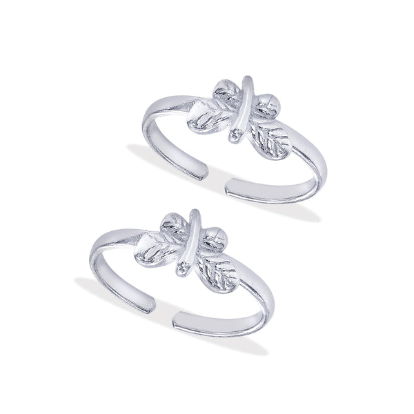 Taraash Sterling Silver Designer Dragonfly Toe Ring For Women LR1128S