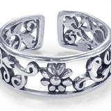 Taraash Sterling Silver Timeless Vintage Style Toe Ring For Women LR1182A