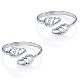 Taraash 925 Sterling Silver Cutwork Toe Rings For Women LR1184S