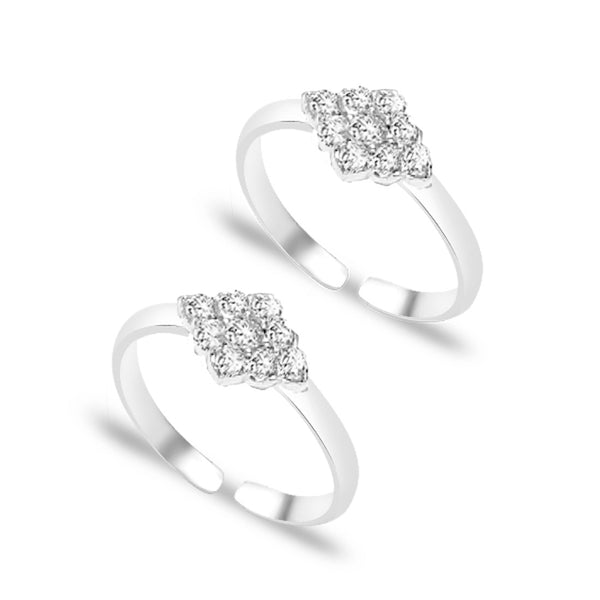Taraash 925 Sterling Silver CZ Beautiful Design Toe Ring