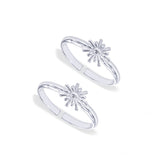 Taraash Sterling Silver Adorable Modish Floral Toe Ring For Women LR1207S
