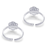 Taraash Sterling Silver Beautiful Modish Floral Toe Ring For Women LR1213S
