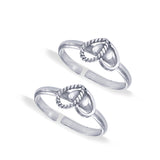 Taraash Sterling Silver Modest & Twisted Heart Toe Ring For Women LR1218A