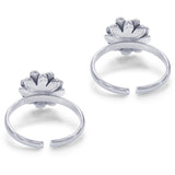 Taraash Sterling Silver Antique Floral Toe Ring For Women LR1230A
