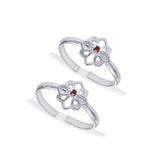 Taraash Sterling Silver Floral Style Toe Ring For Women LR1245S