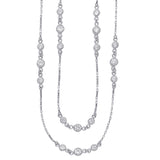 Taraash CZ 925 Sterling Silver Long Chain For Women NK1405R