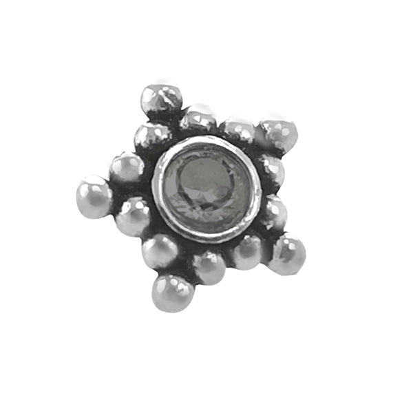 Taraash 925 Sterling Silver Star Shape Nose Pin For Women NPNI-05BK