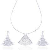 Taraash Diamond Cut Chain Necklace Set for Women #NS0903S