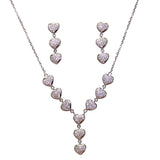 Taraash Sterling Heart Shape Silver Necklace For Women
