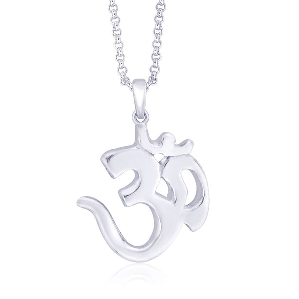 Taraash 925 Sterling Silver Religious Om Pendant Best Gift For Men/Women-PD0243S