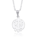 Taraash Holy Khanda 925 Sterling Silver Pendant For Men and Women PD0271S