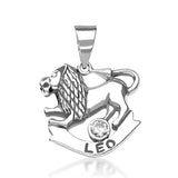 Taraash Leo Zodiac CZ Studded 925 Sterling Silver Pendant for unisex PD0285AI-05