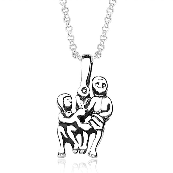 Taraash Gemini Zodiac 925 Sterling Silver Pendant for Unisex PD0286AI-03