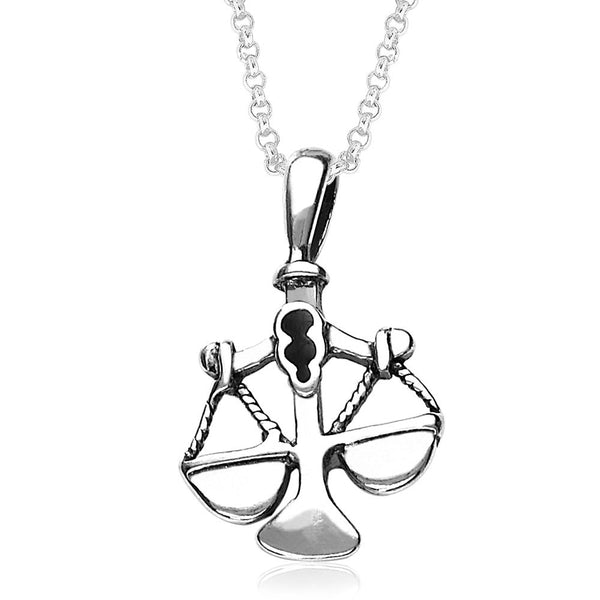 Taraash Libra Zodiac 925 Sterling Silver Pendant for Unisex PD0286AI-07