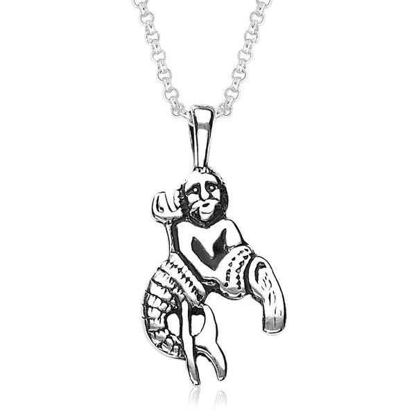 Taraash Aquarius Zodiac 925 Sterling Silver Pendant For Unisex PD0286AI-11