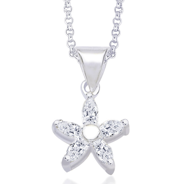 Taraash CZ Floral Pendant for Women #PD0627S