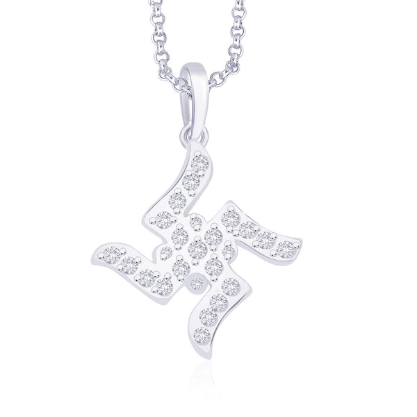 Taraash 925 Sterling Silver  Pendant  For Unisex Silver-PD0630S