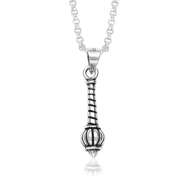 Taraash 925 Sterling Silver Gada Pendant  For Unisex Silver-PD0856A