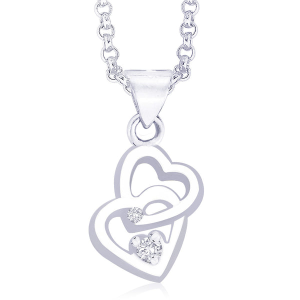 Taraash Sterling-Silver Pendant  For Women Silver-PD1006R