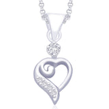 Taraash 925 Sterling Silver  Pendant  For Women Silver-PD1007R