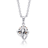 Taraash 925 Sterling Silver  Pendant  For Unisex Silver-PD1024S