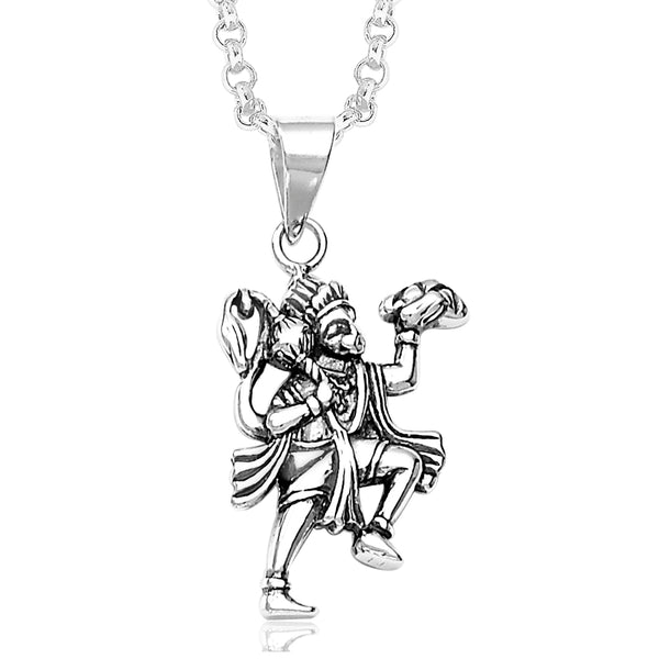 Taraash Hanumanji Pendant 925 Silver For Men PD1031A