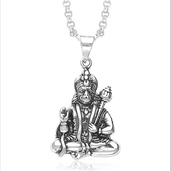 Taraash Hanumanji Sterling Silver Pendant For Men PD1032A