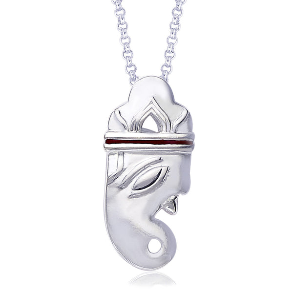 Taraash Ganesha 925 Sterling Silver Pendant For Men and Women PD1153S
