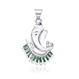 Taraash Sterling-Silver Ganeshji Pendant  For Unisex Silver-PD1215S