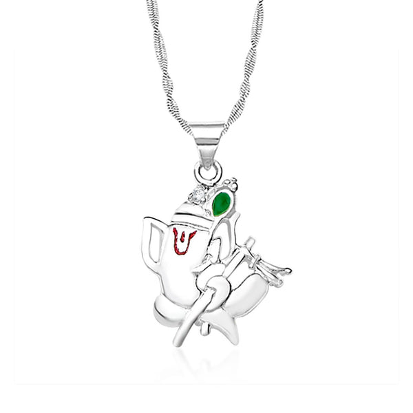 Taraash 925 sterling silver ganeshji pendant for unisex PD1218S