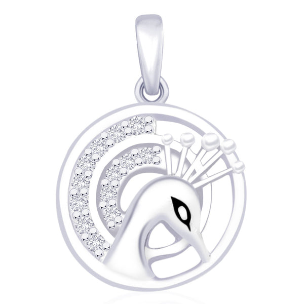 Taraash 925 Sterling Silver  Pendant  For Women Silver-PD1266R