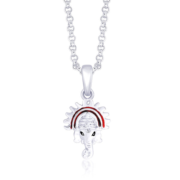 Taraash 925 Sterling Silver  Pendant  For Unisex Silver-PD1427S
