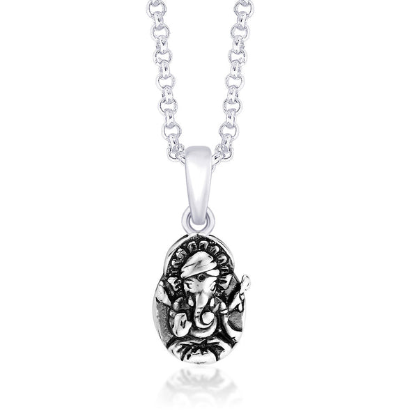 Taraash 925 Sterling Silver  Pendant  For Unisex Silver-PD1428A