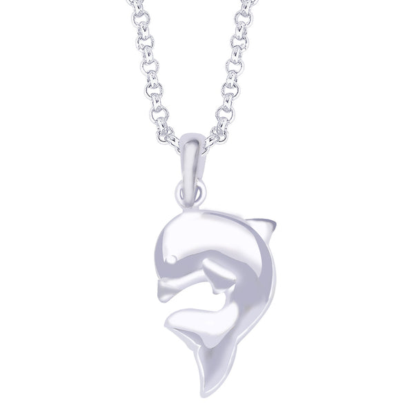 Taraash 925 Sterling Silver Dolphin Pendant For Unisex PD1532S