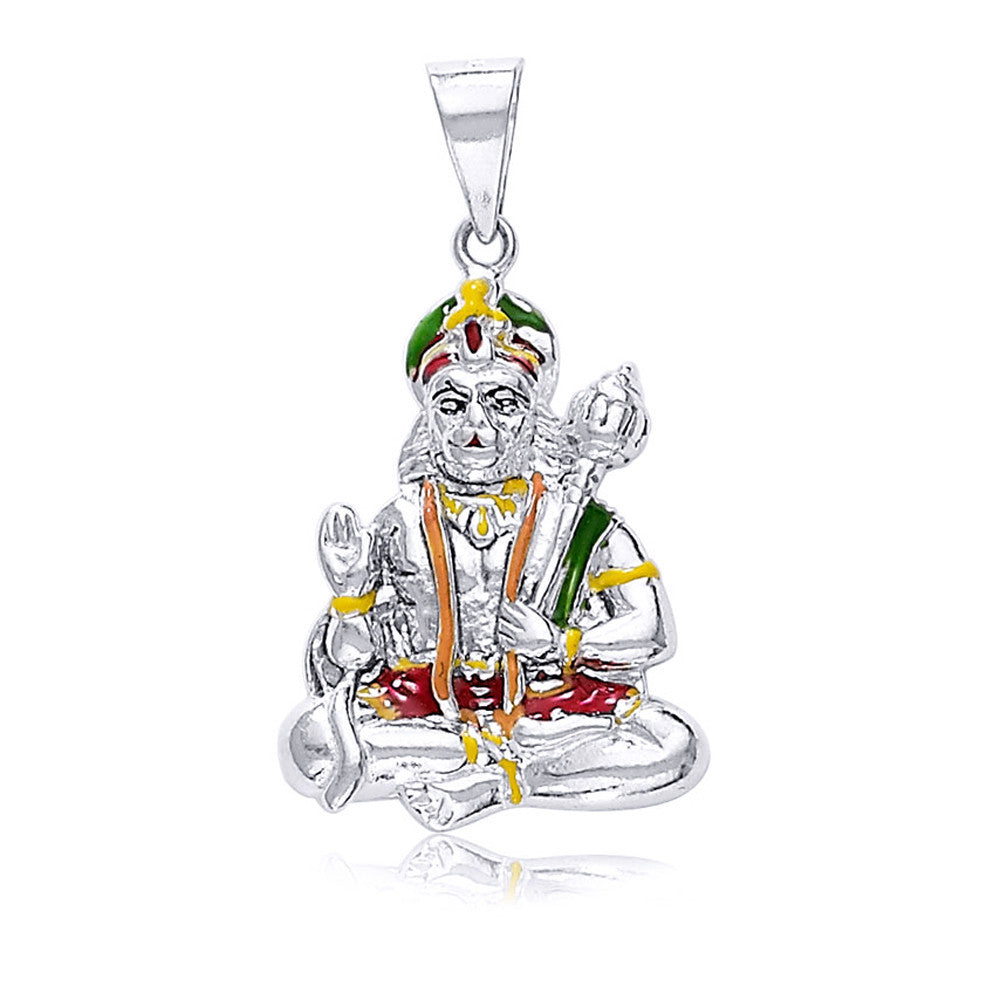Taraash 925 sterling silver hanuman pendant for unisex silver pd1545s aloadofball Image collections