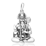 Taraash 925 Sterling Silver Hanuman Pendant for Men PD1666A