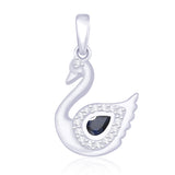 Taraash 925 Sterling Silver Duck with Blue CZ Pendant For Womens PD1690R