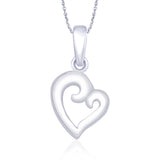 Taraash 925 Sterling Silver Heart Shape Pendant for women PD1719R