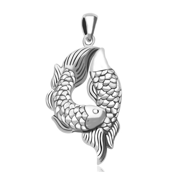 Taraash 925 Sterling Silver Double Fish Pendant For Women PD1784A