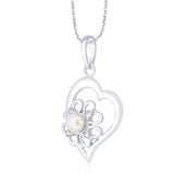 Taraash 925 Sterling silver Heart pendant for women PD1793R