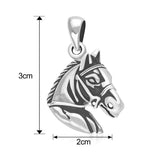 Taraash Sterling Silver Horse Face Pendant For Mens PD1891A