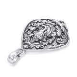 Taraash Sterling Silver Lord Shri Ganeshji Pendant For Unisex PD1964A