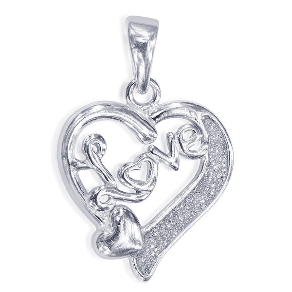 Taraash 925 Sterling Silver Heart Shape Pendant For Women PD2027R