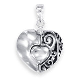 "Taraash Sterling Silver ""I Love You"" Hidden Message Heart Charm Pendant PD2060A"