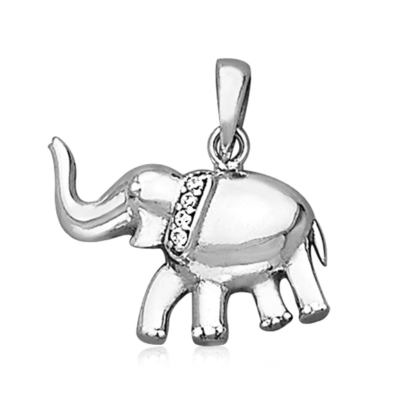 Taraash 925 Sterling Silver Pleasing Elephant Pendant For Unisex PD2075A