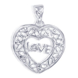 Taraash 925 Sterling Silver Heart Shape Pendant For Women PD2180S
